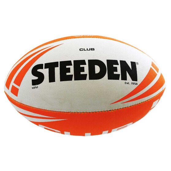 Steeden Club Rugby League Junior Training Ball  Orange 3 Orange 3, , rebel_hi-res