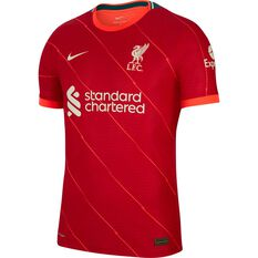 Liverpool FC 2021/22 Authentic Mens Home Jersey Red S, Red, rebel_hi-res