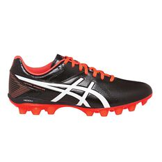 Asics Lethal Speed Mens Football Boots Black / Coral US 7 Adult, Black / Coral, rebel_hi-res
