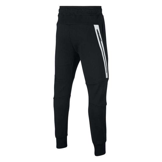 Nike Boys Sportswear Tech Fleece Pants, Black / White, rebel_hi-res