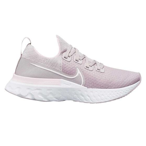 Nike React Infinity Run Flyknit Womens Running Shoes, Pink/White, rebel_hi-res