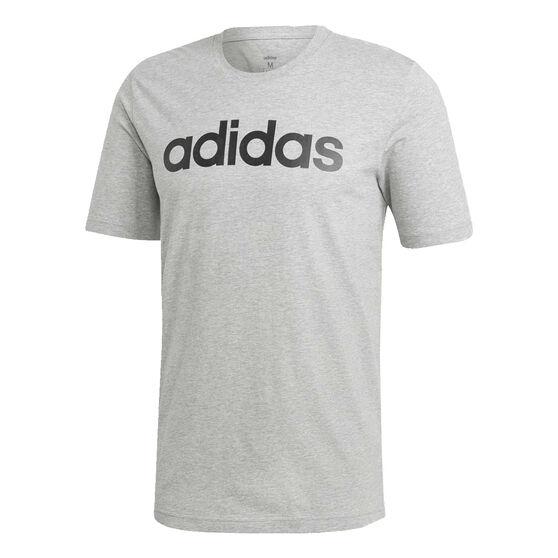 adidas Mens Essentials Linear Tee, Grey, rebel_hi-res