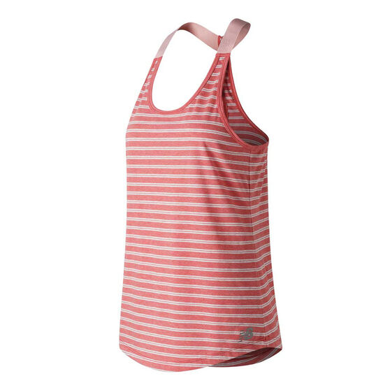 New Balance Womens Novelty Heather Tech Tank Red / White L, , rebel_hi-res