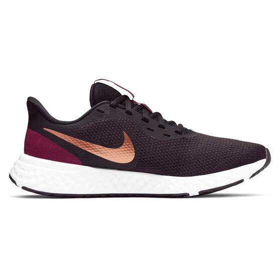 Nike Revolution 5 Womens Running Shoes Black / Bronze US 6, Black / Bronze, rebel_hi-res