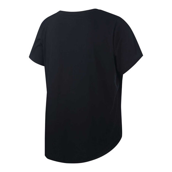 Nike Womens Essentials Futura Tee Plus, Black, rebel_hi-res