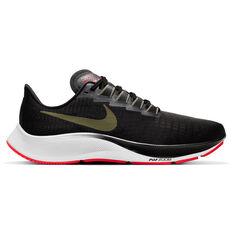 Nike Air Zoom Pegasus 37 Mens Running Shoes Black/Olive US 7, Black/Olive, rebel_hi-res