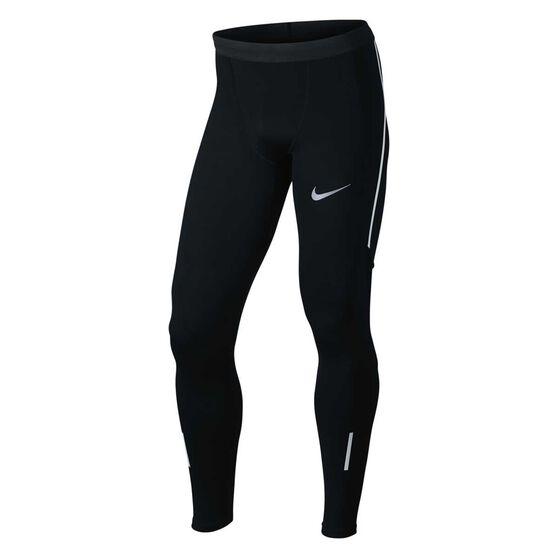 Nike Mens Power Tech Tights Black S, Black, rebel_hi-res