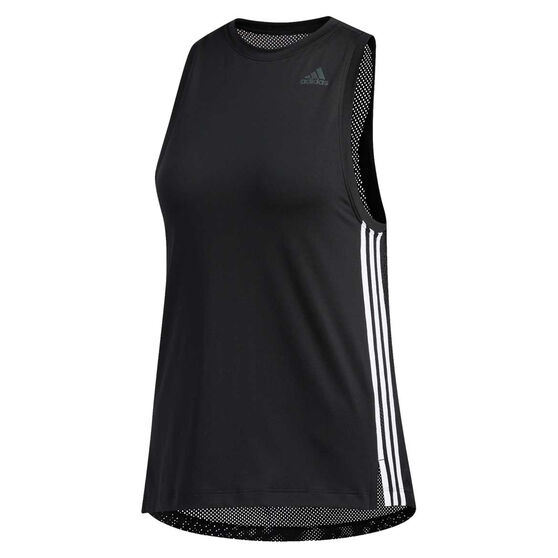 adidas Womens 3 Stripes Tank, Black, rebel_hi-res