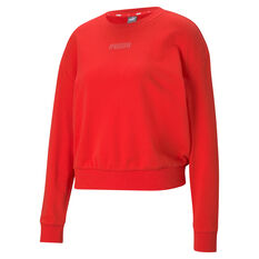 Puma Womens Modern Basics Sweater Red XS, Red, rebel_hi-res