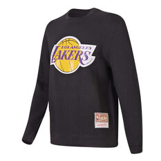 Los Angeles Lakers Mens Sweatshirt Black S, Black, rebel_hi-res