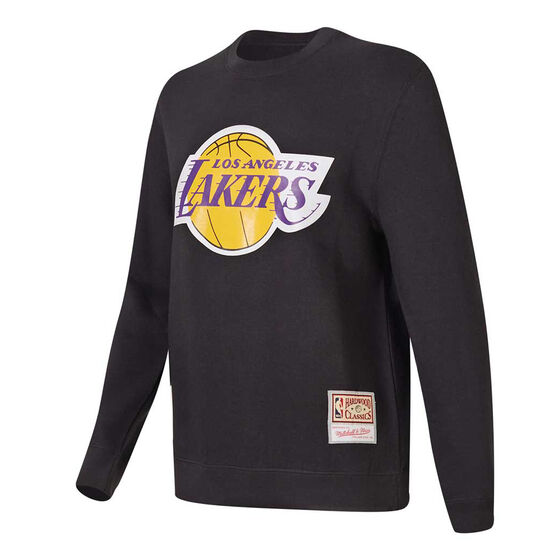 Los Angeles Lakers Mens Sweatshirt, Black, rebel_hi-res