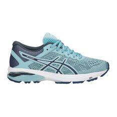 Asics GT 1000 6 D Womens Running Shoes Blue / White US 6, Blue / White, rebel_hi-res