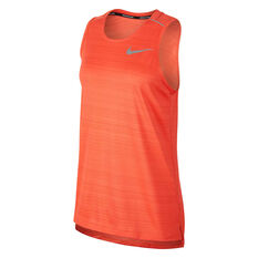 Nike Mens Dri-FIT Miler Running Tank Red S, Red, rebel_hi-res