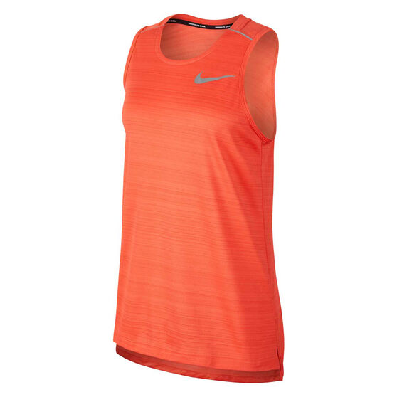 Nike Mens Dri-FIT Miler Running Tank, Red, rebel_hi-res