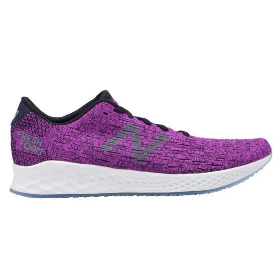 New Balance Zante Pursuit Womens Running Shoes, Purple / White, rebel_hi-res