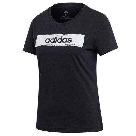 adidas Womens Boxed Graphic Tee, Black, rebel_hi-res