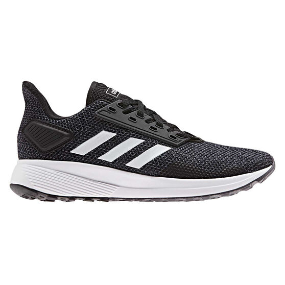adidas Duramo 9 Womens Running Shoes, Black / White, rebel_hi-res