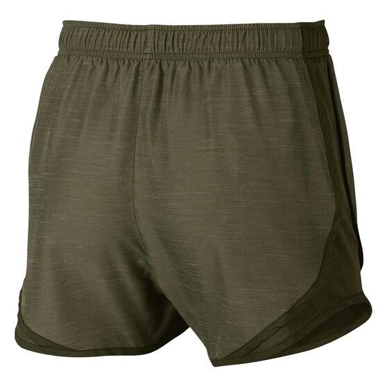 Nike Womens Dry Tempo Running Shorts, Green, rebel_hi-res