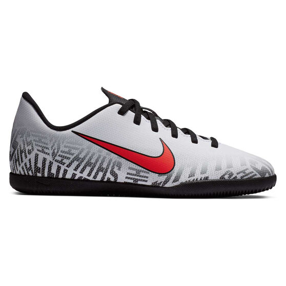 Nike Mercurial Vapor XII Club Neymar Jr Kids Indoor Soccer Shoes White / Black US 6, White / Black, rebel_hi-res