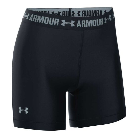 Under Armour Womens HeatGear 5in Shorts Black XS, Black, rebel_hi-res