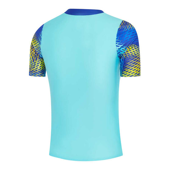 Speedo Girls Leisure Auran Rash Vest, Blue, rebel_hi-res