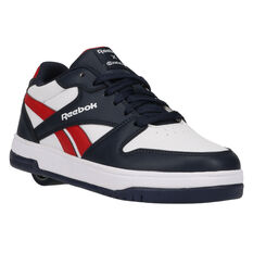 Reebok BB4500 Low Heelys Navy/Red US 1, Navy/Red, rebel_hi-res