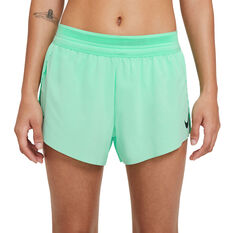Nike Womens AeroSwift Running Shorts Green XS, Green, rebel_hi-res