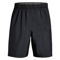 Under Armour Mens Woven Graphic Training Shorts Black/Grey S, Black/Grey, rebel_hi-res
