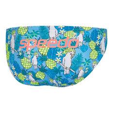 Speedo Mens Escape Don't Be So Cocky 5cm Swim Briefs Blue 10, Blue, rebel_hi-res