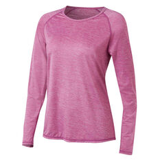 Ell & Voo Womens Emma Long Sleeve Tee Pink 18, Pink, rebel_hi-res