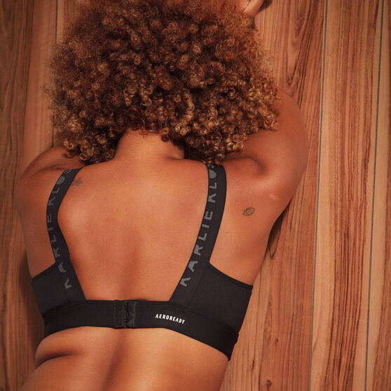 adidas Karlie Kloss Womens Medium Support Sports Bra, Black, rebel_hi-res