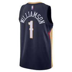 Nike New Orleans Pelicans Zion Williamson 2020/21 Mens Icon Edition Authentic Jersey, Navy, rebel_hi-res