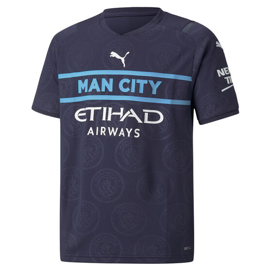 Manchester City 2021/22 Youth Replica 3rd Jersey Navy XS, Navy, rebel_hi-res