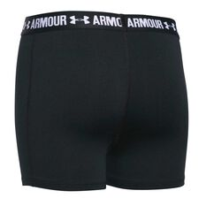 Under Armour Girls 3in Armour Shorty Shorts Black XS, Black, rebel_hi-res