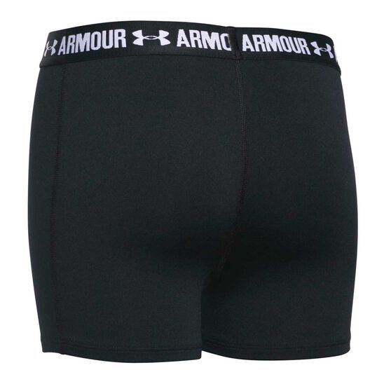Under Armour Girls 3in Armour Shorty Shorts Black XL, Black, rebel_hi-res
