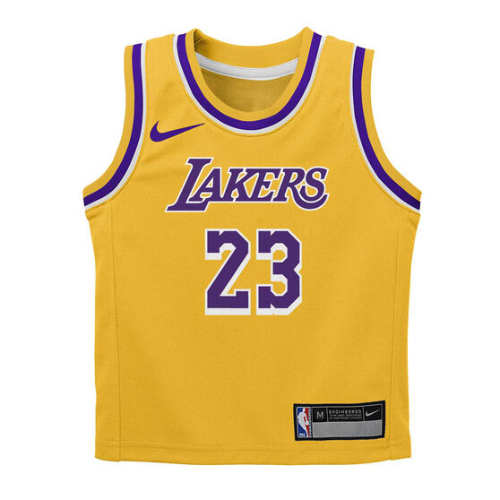 Nike Los Angeles Lakers LeBron James 2019/20 Infant Jersey Set, Yellow, rebel_hi-res