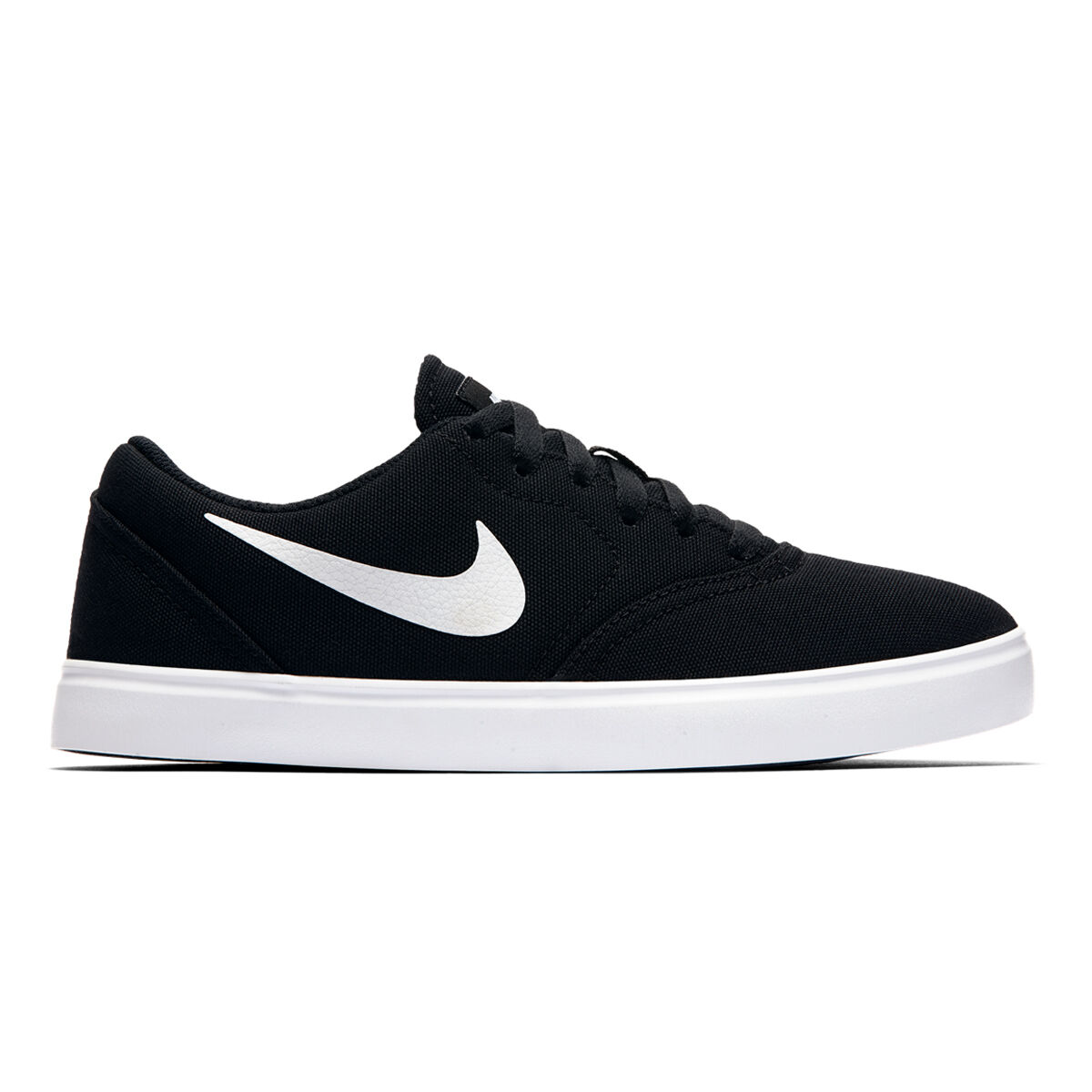 Mens Grey Skate Shoes Nike SB Portmore II Wolf Grey & White Canvas Skate Shoes Grey D Treads