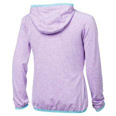 Tahwalhi Girls Glide Full Zip Hoodie Purple 4, Purple, rebel_hi-res
