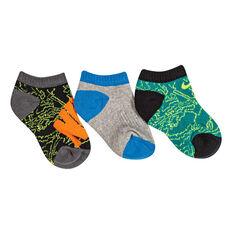 Nike Kids Graphic No Show Socks Orange / Grey 5 / 6, Orange / Grey, rebel_hi-res