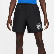 Nike Mens Challenger Wild Run Running Shorts Black S, Black, rebel_hi-res
