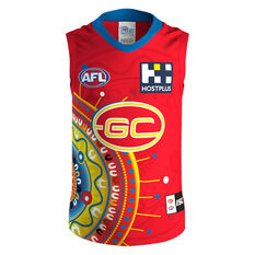 Gold Coast Suns 2020 Kids Indigenous Guernsey Red 8, Red, rebel_hi-res