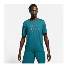 Nike Mens Dri-FIT Run Division Tee Teal S, , rebel_hi-res