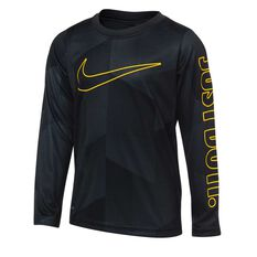 Nike Boys Just Do It Micro Dri-FIT Long Sleeve Tee Black 4, Black, rebel_hi-res