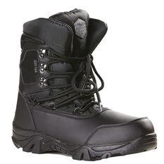 Elude Hi Top Mens Snow Boots Black 7, Black, rebel_hi-res