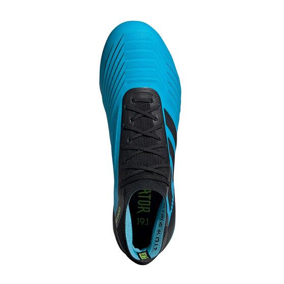 adidas Predator 19.1 Football Boots, Blue / Black, rebel_hi-res