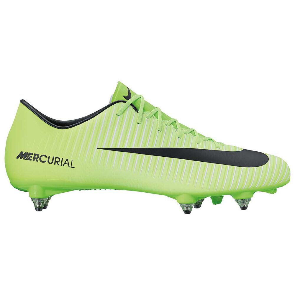 eca51e573e3c Nike Mercurial Victory SG Mens Football Boots Green / Black US 8 Adult,  Green /
