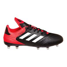 adidas Copa 18.3 FG Mens Football Boots Black / White US 7 Adult, Black / White, rebel_hi-res
