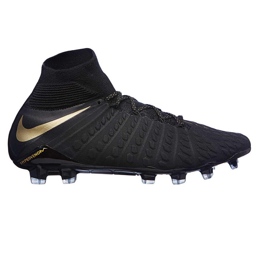 9b79f124e1a8 Nike Hypervenom Phantom III Elite Dynamic Fit Mens Football Boots Black    Gold US 7