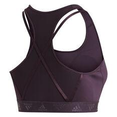 adidas Womens Don't Rest Glam On Sports Bra Plus Purple XL, Purple, rebel_hi-res