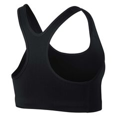 Nike Womens Pro Classic Swoosh Futura Sports Bra Black  / White XS, Black  / White, rebel_hi-res